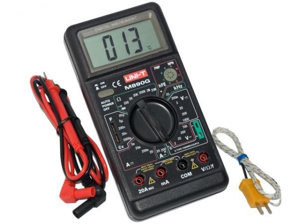Мультиметром с термопарой можно измерять температуру