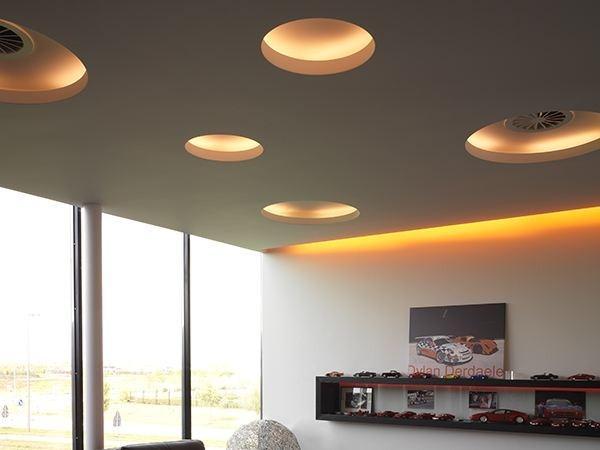 Установка точечных светильников в натяжной потолок видео урок