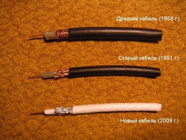 Тв кабели разных времен