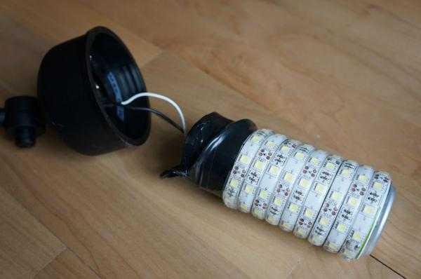 Светодиодные лампы из лент своими руками