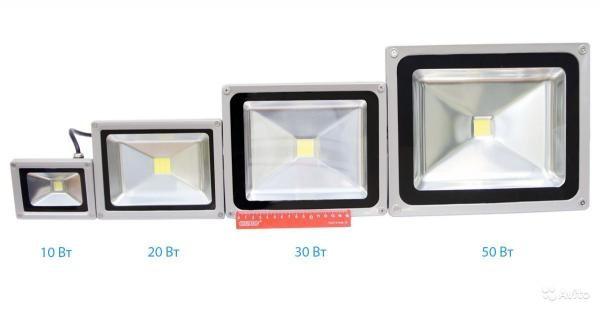 Размеры светодиодных прожекторов