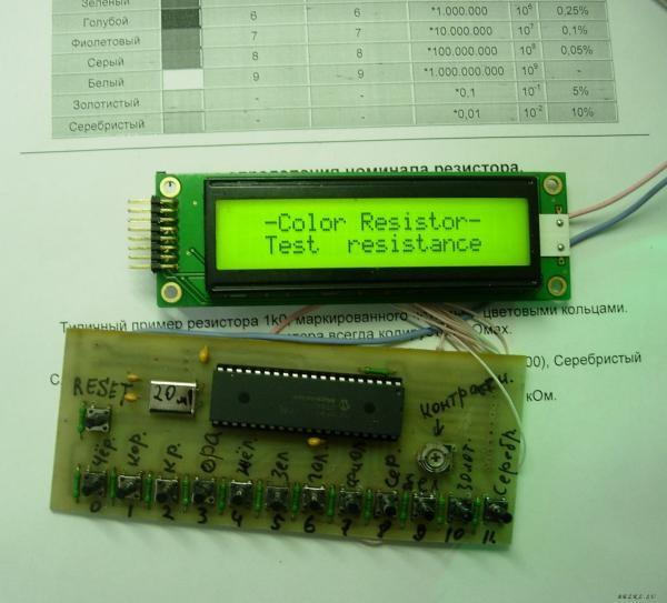 Кодовая маркировка резисторов