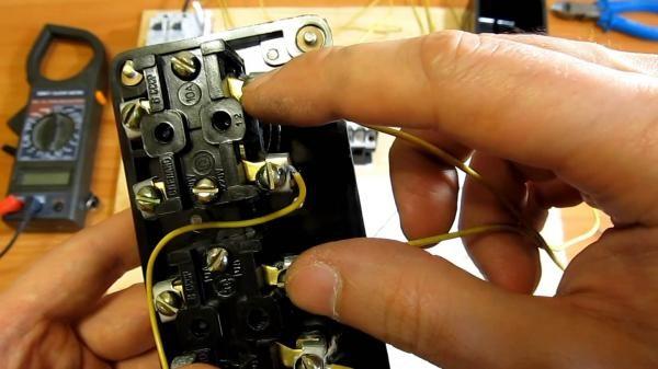 Подключение мощного трехфазного двигателя