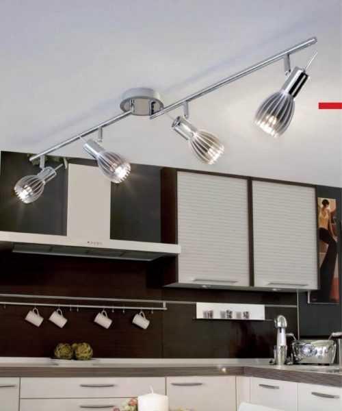 Точечное освещение на кухне