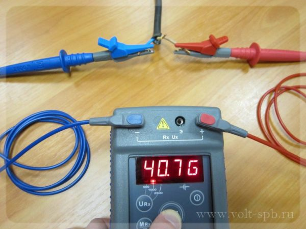 Испытание низковольтных кабелей