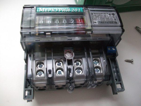 Как можно остановить электросчетчик «Меркурий-201»