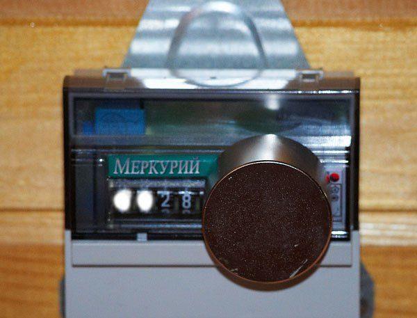 Магнит на счетчике Меркурий 201