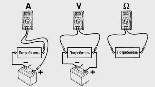 схема подключения мультиметра