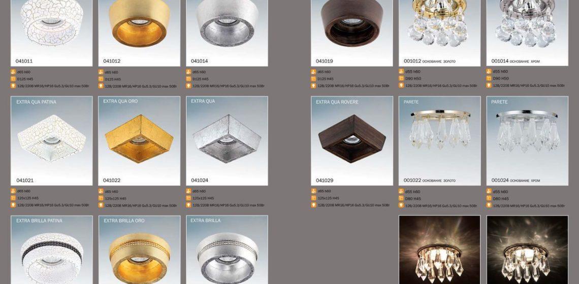 встроенные потолочные светильники