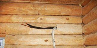 Электрическая проводка в деревянном доме