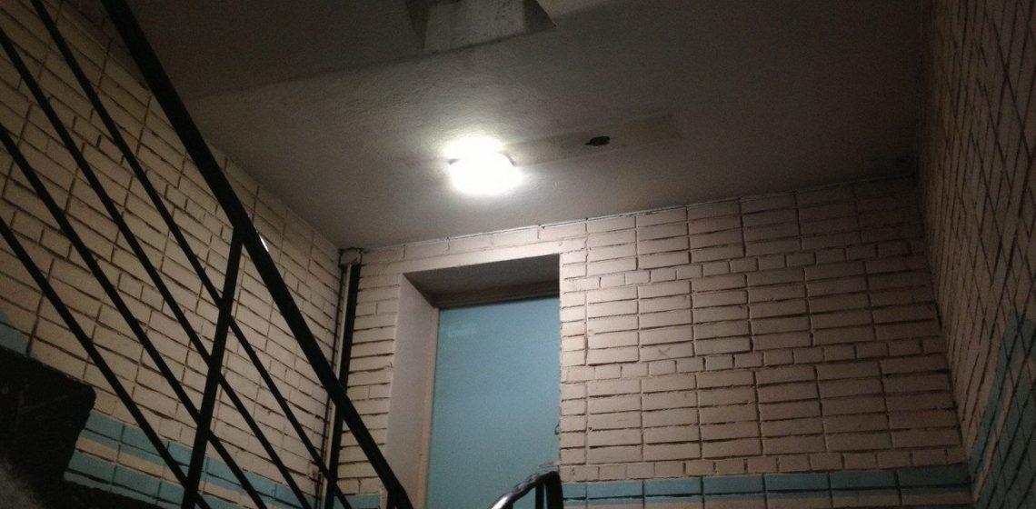 Светодиодный светильник с датчиком движения и освещенности для ЖКХ