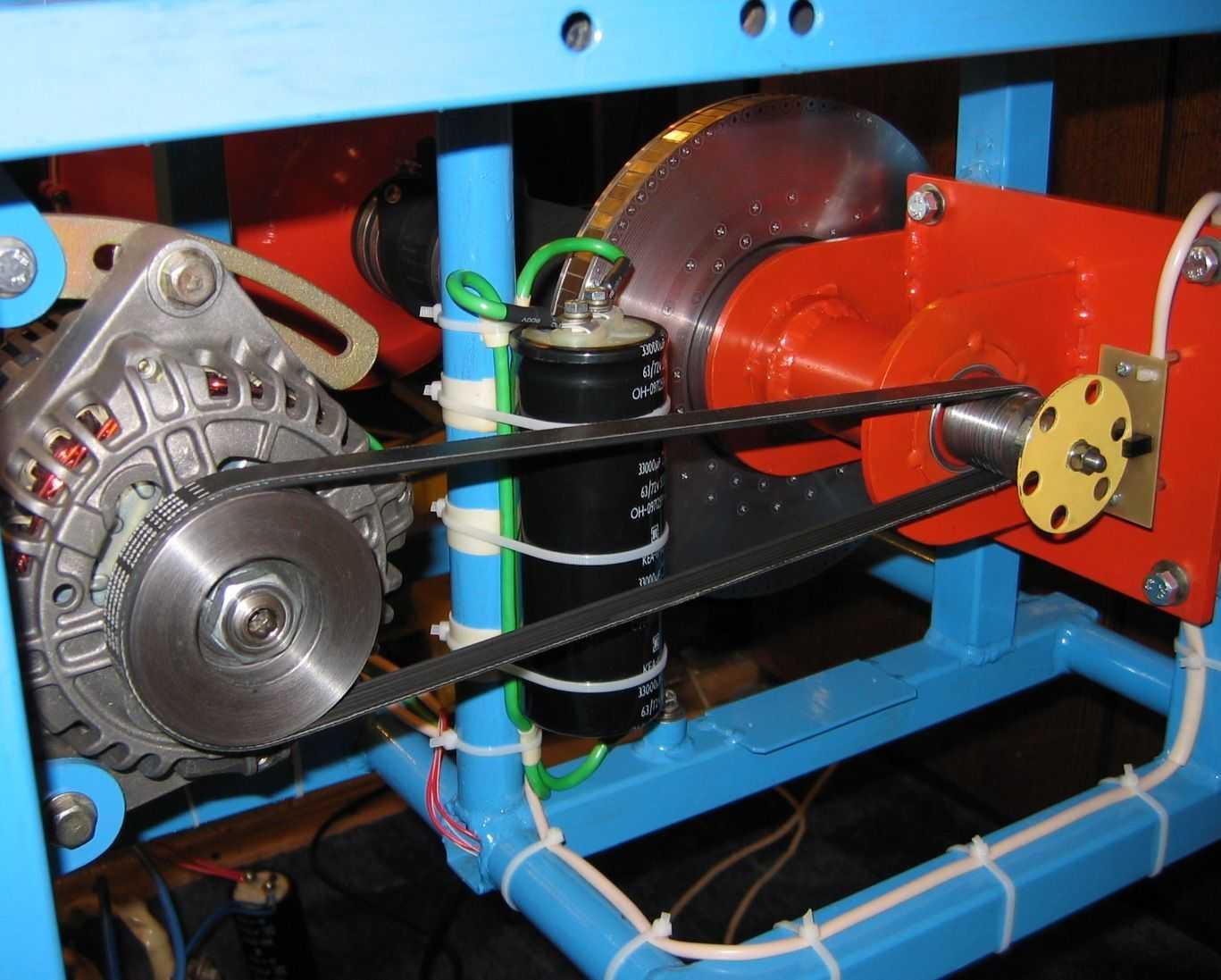 генератор из двигателя стиральной машины