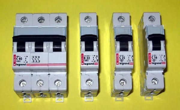 Виды электрических автоматов