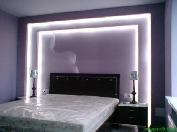 Оформление спальни светодиодной лентой