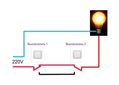 Проходной выключатель в длинном коридоре
