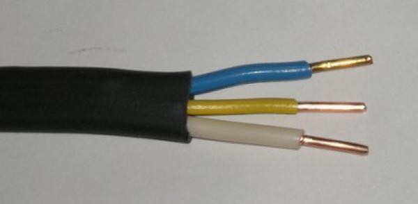 Для освещения подойдет кабель ВВГ 3*1.5