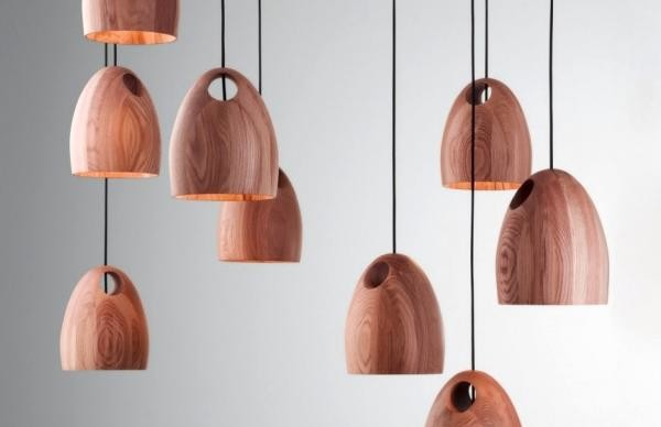 Оригинальные плафоны из дерева