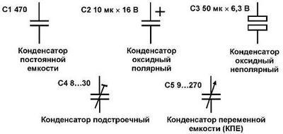Обозначение на схеме