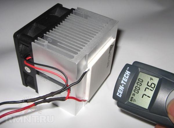 Эффект Пельтье сегодня применяется для охлаждения микропроцессоров