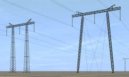 Линии электро передач поднимаются очень высоко над землей и в качестве изоляционного материала используется воздух.