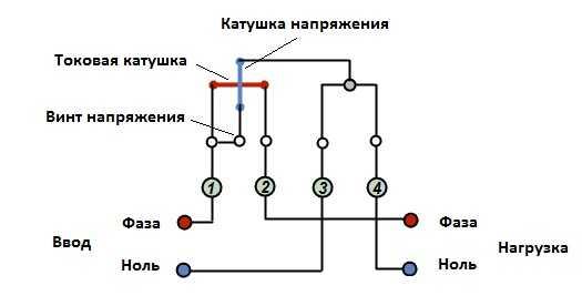 Схема подключения однофазного электросчетчика