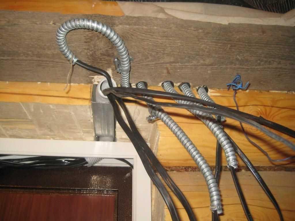 Металлорукав для электропроводки в деревянном доме