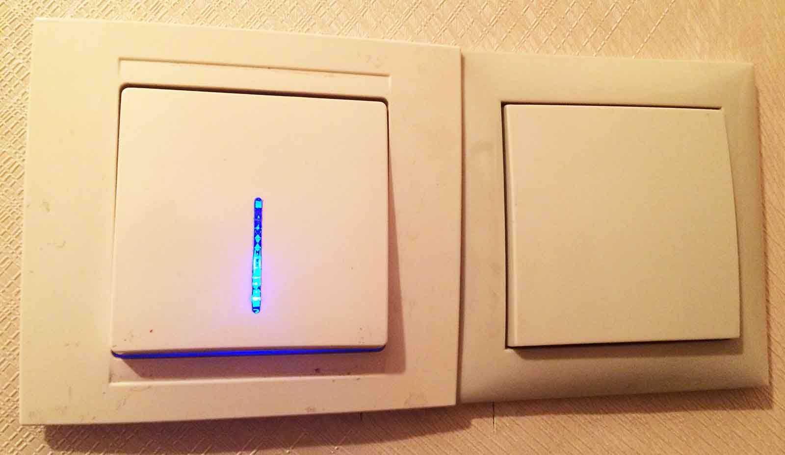 Одноклавишный проходной выключатель