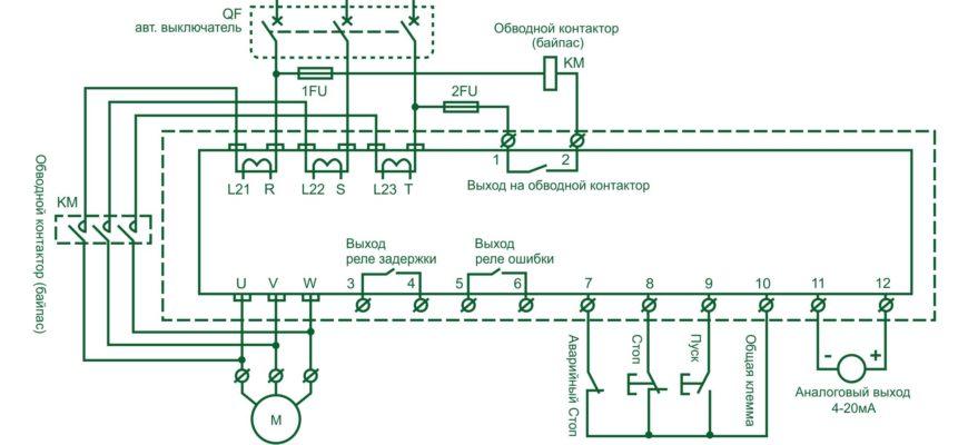 Плавный пуск асинхронного электродвигателя