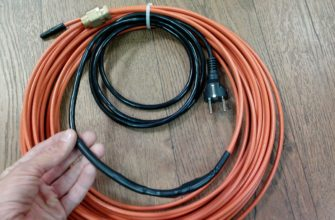 Саморегулирующийся кабель для обогрева водопровода
