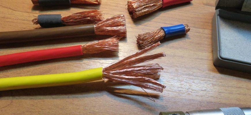 диаметр провода и его сечение
