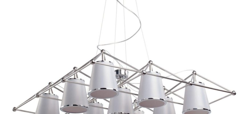 подвесные светильники на тросах