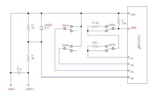 Осциллограф на Ардуино-схема