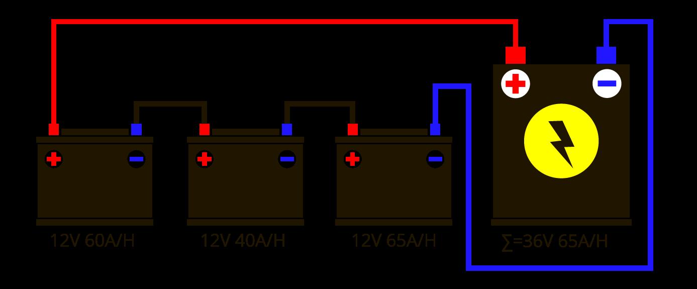 Последовательное и параллельное-соединение-аккумуляторов