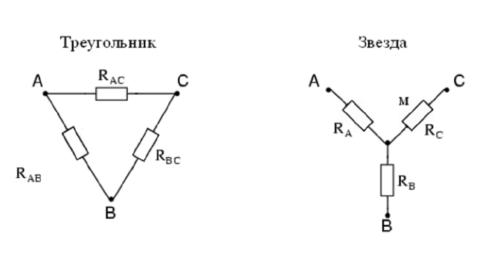 Сопротивление резистора луча «звезды»