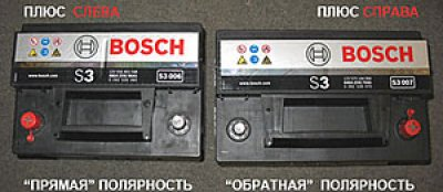полярности-аккумулятора